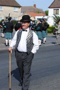 Fred leading the carnival parade