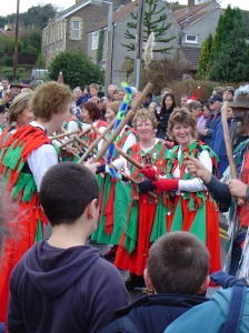 Winterbourne Down Border Morris dancers at the carnival